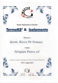 Attestato Aziendale Rocco Di Tomaso Master Applicatore Di Qualita