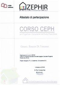 Attestato Aziendale Rocco Di Tomaso Progettista Consulente